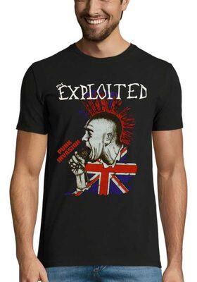 Rock punk t-shirt με στάμπα The Exploited Punk Invasion