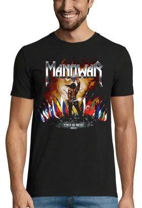 Heavy metal t-shirt με στάμπα Manowar Kings of Metal MMXIV