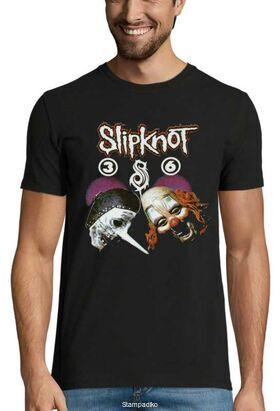 Heavy metal t-shirt με στάμπα Slipknot  Band Gene Simmons Demon Face