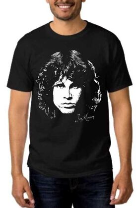 Rock t-shirt με στάμπα Jim Morrison Day destroys the night, night divides the day