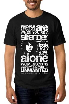 Rock t-shirt με στάμπα Jim Morrison People are Strange When You're a Stranger