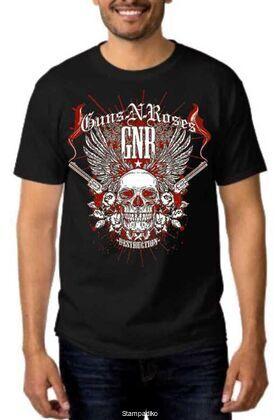 Rock t-shirt με στάμπα Guns N' Roses Destruction