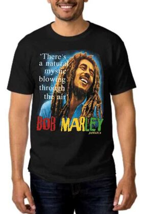 Rock t-shirt με στάμπα Bob Marley There's a natural mystic blowing through the air