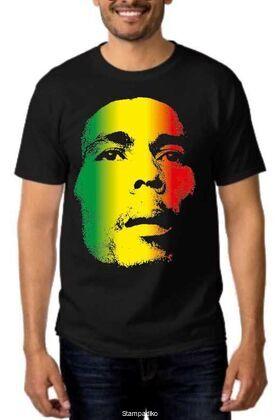 Rock t-shirt με στάμπα Bob Marley Retro
