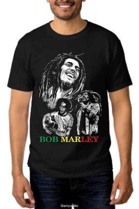 Rock t-shirt με στάμπα Bob Marley Reggae Creator