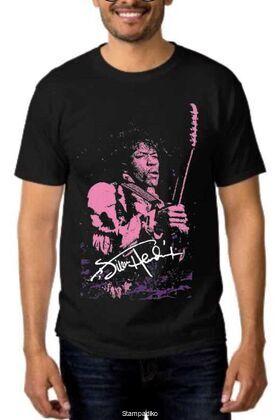 Rock t-shirt με στάμπα Jimi Hendrix