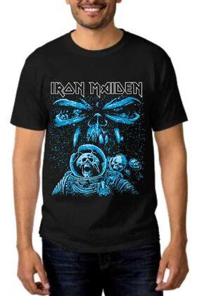 Heavy metal t-shirt με στάμπα Iron Maiden Final Frontier