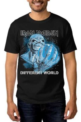 Heavy metal t-shirt με στάμπα Iron Maiden A Different World