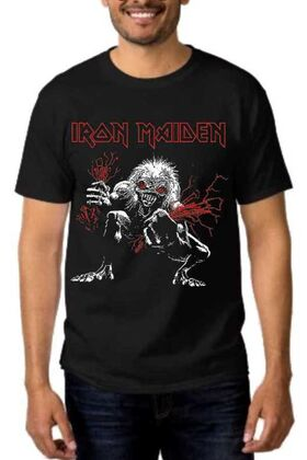 Heavy metal t-shirt με στάμπα Iron Maiden A Real Live Dead One