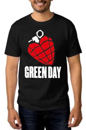 Rock t-shirt με στάμπα Green Day American Idiot