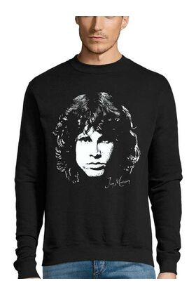Μπλούζα Φούτερ Sweatshirt Rock με στάμπα Jim Morrison Day destroys the night, night divides the day