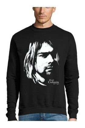 Μπλούζα Φούτερ Sweatshirt Rock Kurt Cobain Nirvana