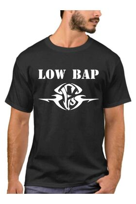 Μπλουζάκι,φούτερ κουκούλα & φούτερ χωρίς κουκούλα με στάμπα Low Bap