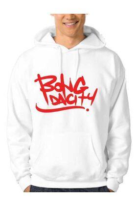 Μπλούζα φούτερ με κουκούλα με στάμπα Hip Hop Bong Da City