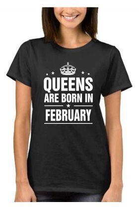Μπλούζα T-shirt με στάμπα Queens are born in February