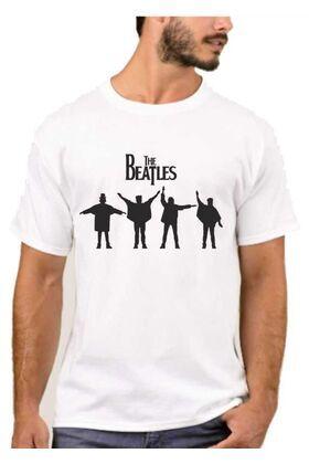 Rock t-shirt με στάμπα The beatles
