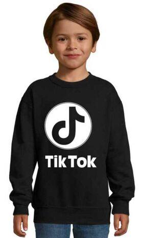 Μπλούζα Φούτερ με στάμπα Tik Tok