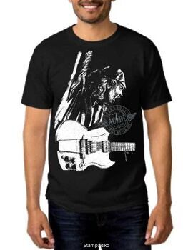 Rock t-shirt Black με στάμπα AC/DC Stiff Upper Lip