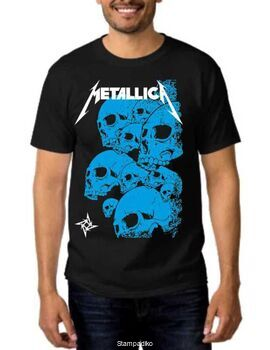 Rock Black t-shirt Metallica 10 Skulls