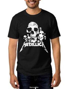 Rock Black t-shirt Metallica skulls