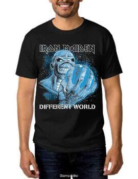 Heavy metal t-shirt με στάμπα Iron Maiden A Different World
