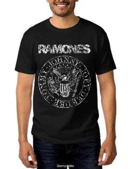 Rock t-shirt με στάμπα Ramones Vintage Eagle Seal