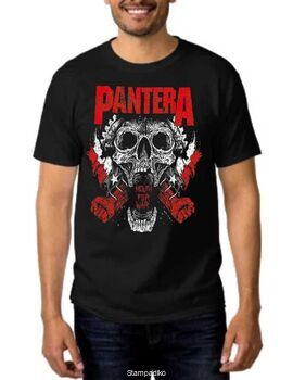 Rock t-shirt Pantera Mouth For War