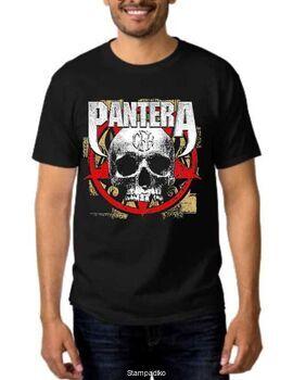 Rock t-shirt Pantera Cowboys from Hell CFH Skull