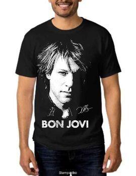 Rock t-shirt με στάμπα Bon Jovi