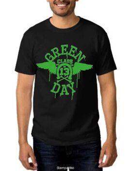 Rock t-shirt με στάμπα Green Day class of 13