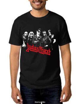 Rock t-shirt με στάμπα Judas Priest