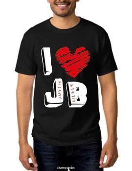 Rock t-shirt  I love Justin Bieber