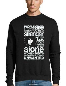 Μπλούζα Φούτερ Sweatshirt Rock με στάμπα Jim Morrison People are Strange When You're a Stranger
