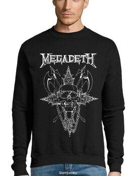 Μπλούζα Φούτερ με στάμπα Megadeth Cryptic Writings of Megadeth Chaos
