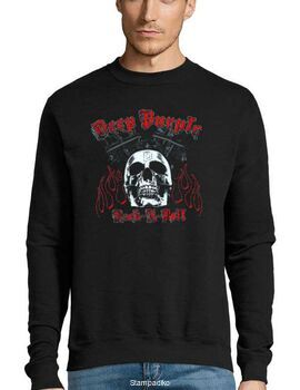 Μπλούζα Φούτερ με στάμπα Deep Purple Highway Star Motor
