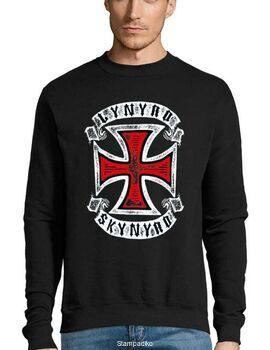 Μπλούζα Φούτερ με στάμπα Lynyrd Skynyrd  Red Cross Vintage Style Rock Band