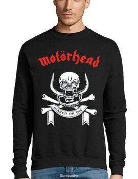 Μπλούζα Φούτερ με στάμπα Motorhead March Or Die