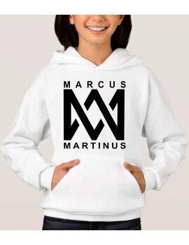 Μπλούζα φούτερ με κουκούλα με στάμπα Marcus & Martinus