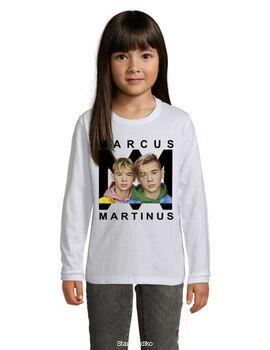 Μπλούζα t-shirt μακρύ μανίκι με στάμπα Marcus & Martinus