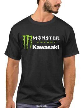 Μπλούζα με στάμπα Monster Energy Kawasaki