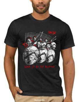 Μπλουζάκι με στάμπα War is may blood a2779
