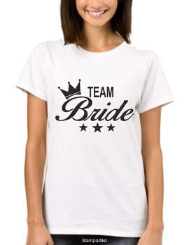 Μπλουζάκι με στάμπα Team Bride Bachelor Party