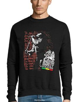 Μπλούζα Φούτερ με στάμπα Bob Marley Hit Me with Music