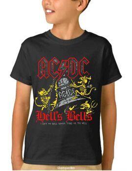 Παιδικό μπλουζάκι με στάμπα AC/DC  Black Ice I got my bell, I'm gonna take you to hell