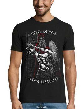 Μπλουζάκι με στάμπα 300 Never Retreat Never Surrender