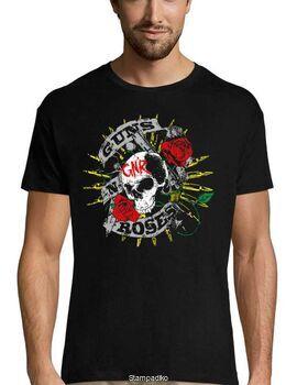 Rock t-shirt Black με στάμπα Guns N' Roses Firepower