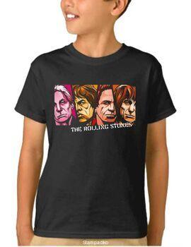 Παιδικό μπλουζάκι με στάμπα Rolling Stones Mick Jagger, Keith Richards,Charlie Watts, Brian Jones