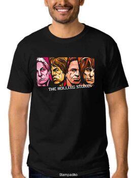 Rock t-shirt με στάμπα The Rolling Stones Mick Jagger, Keith Richards,Charlie Watts, Brian Jones
