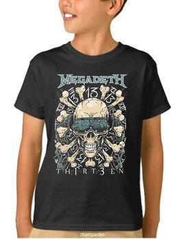 Παιδικό μπλουζάκι με στάμπα Megadeth Thirteen Black Concert Tour T-Shirt