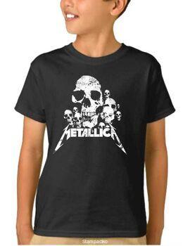 Παιδικό μπλουζάκι με στάμπα Metallica Skulls